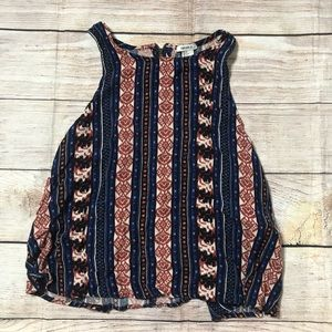 Small Forever 21 patterned tank top